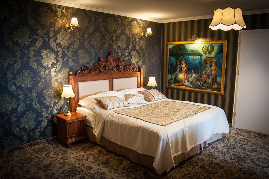 Luksusowy, barokowy pokój w Pałacu Borynia
