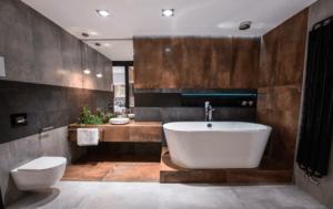 Minimalistyczna i funkcjonalna łazienka w salonie Bellamica